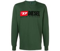 Jersey-Sweatshirt mit Logo-Stickerei