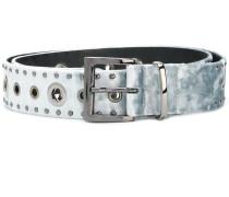 silver studded mid-width belt