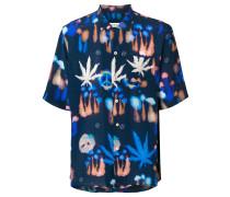 Kurzärmeliges Seidenhemd mit Print