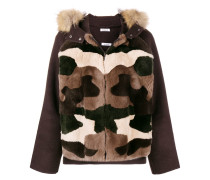 P.A.R.O.S.H. hooded camouflage parka jacket