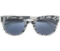 snakeskin print sunglasses