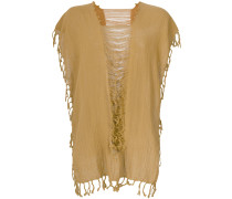 convertible fringed and distressed top