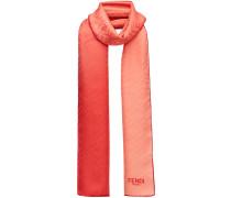 embossed logo scarf