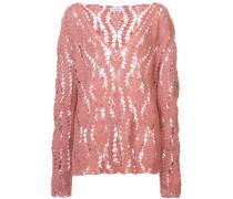 crocheted design jumper