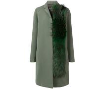 fox fur detail coat
