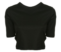 Cropped-T-Shirt mit Knotendetails