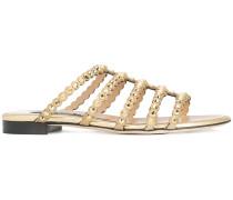 stud embellished strappy sandals