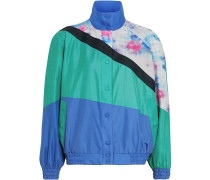 colour-block reversible bomber jacket