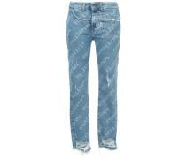 Skinny-Jeans mit Logo-Print - Unavailable