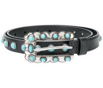 cabochon studded belt