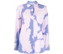 Gestreiftes Hemd mit Bleached-Effekt