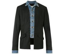Jeansjacke im Blazer-Look