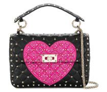 Heart Rockstud shoulder bag
