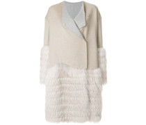 Kristina fur panelled coat