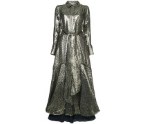 'Berthe' Kleid im Metallic-Look