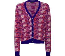 jacquard V-neck cardigan