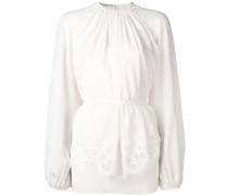 lace trim panel blouse
