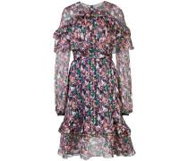 Gerafftes Kleid mit langen Ärmeln
