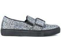 Slip-On-Loafer mit Glitzereffekt