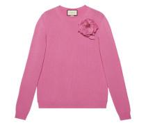 Pullover mit abnehmbarer Rosenverzierung