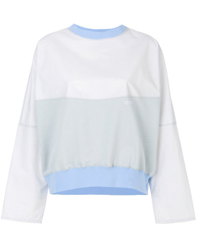 oversized colour-block sweatshirt