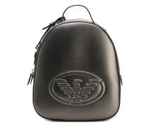 logo embossed backpack