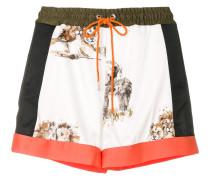 Shorts mit Tier-Print
