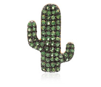 tsavorite cactus pendant necklace