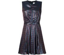 Kleid mit Metallic-Streifen
