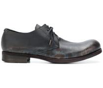 tonal print derby shoes