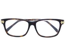 Oversized-Brille mit Schildpattoptik