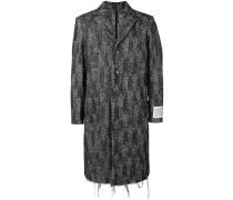 Ungesäumter Mantel mit Chevronmuster