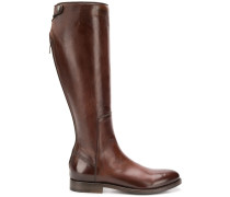 zip-up high boots