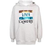 Viva L'Amore beaded hoodie
