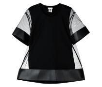 short-sleeve sheer blouse