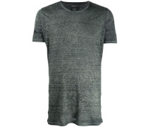 Meliertes Leinen-T-Shirt