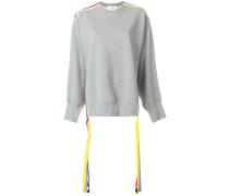 Oversized-Sweatshirt mit bunten Bändern