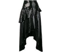 asymmetric sequin skirt
