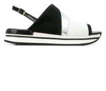 panelled sandals