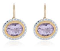 oval pendant amethyst earrings