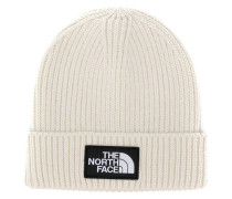 logo patch knitted beanie