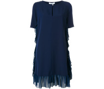 Kleid mit gerafftem Saum