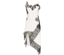 Camisole-Kleid mit Spitzenborten