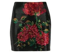 Minirock mit floralem Design