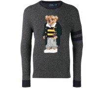 Wollpullover mit Teddybärenmotiv