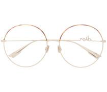 Runde Brille mit Logo