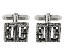 burnished logo cufflinks