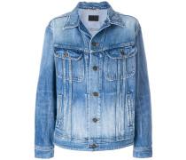 Oversized-Jeansjacke mit Brusttaschen