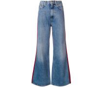 Jeans mit Kontrasteinsatz