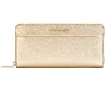 Metallic-Portemonnaie mit Reißverschluss